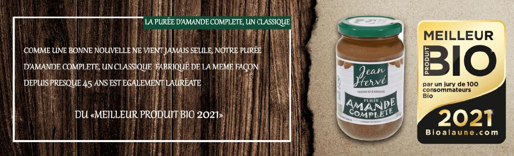 purée d'amande complète bio remporte prix meilleur produit 2021